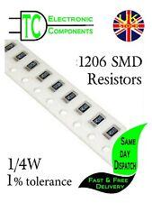 1206 SMD Resistors 0.25W 1% Full Range Available **UK Seller** Same Day Dispatch