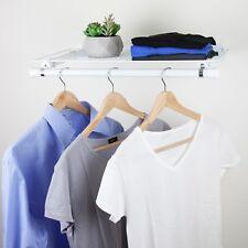 Single Shelf with Hanger - White
