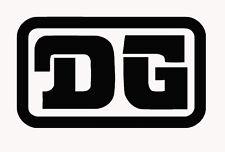DG classic decal stickers X2 PAIR twinshock motocross vinduro enduro