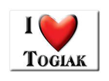 SOUVENIR USA - ALASKA FRIDGE MAGNET AMERICA I LOVE TOGIAK (DILLINGHAM COUNTY)