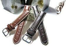 Genuine Leather Band Strap.bracelet FITS Longines Evidenza 14mm x14 or 18mm x18