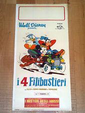 I 4 FILIBUSTIERI locandina poster Disney Donald Duck Goofy Mickey's Trarter K43