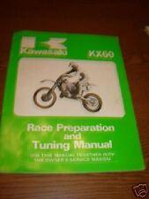 Kawasaki KX60 Race Prep Tuning Repair Manual Printed 85