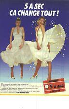 """PUBLICITE ADVERTISING  1987  5 à SEC pressing """" ça change tout """""""