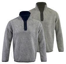Men's Fishing Fleece Heavy Weight  Macaroni Sweatshirt 1/4 Zip Jacket Top