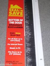 2 X Bianco PVC Porta inferiore GUARNIZIONE PENNELLO DA TIRO Excluder