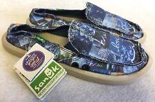 Sanuk Donna Blue Love Women Shoes Slip-on Flat Loafer Sidewalk Surfer Yoga Mat