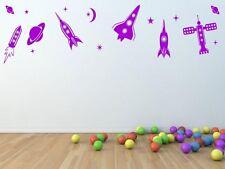 Carino Children's room set di qualità durevole Spazio Pianeti Razzi Adesivi Murali