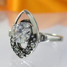 A107 Ring 925 Silber Schmuck mit Swarovski Elements Kristall verschiedene Größen