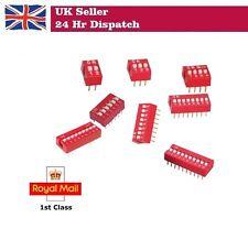 Interrupteur Dip 2/4/6/8 Way Positions Pack de 5/10