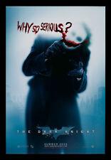 DARK KNIGHT CineMasterpieces ORIGINAL MOVIE POSTER BATMAN WHY SO SERIOUS ? JOKER