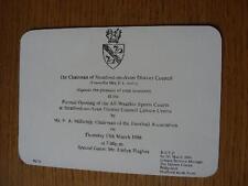 BIGLIETTO 13/03/1986: apertura formale di All Weather Sports tribunali a Stratford-On-A