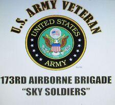 U.S. ARMY VETERAN EMBLEM* NAME DROP U.S. ARMY MILITARY UNIT SHIRT LIST # 3