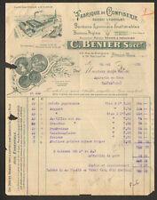 """LYON VAISE (69) FABRIQUE de CONFISERIES / BONBONS """"C. BENIER"""" en 1935"""