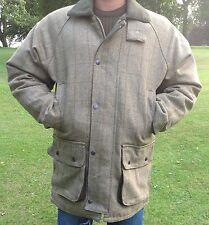 Mens Tweed Derby Wool Jacket Waterproof Breathable Warm Shooting Hunting S - 4XL