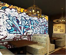 Papel Pintado Mural De Vellón Cool Graffiti Blanco 21 Paisaje Fondo De Pantalla