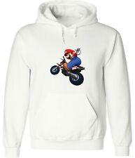 Nintendo Mario Kart Motorcycle Mario Funny Video Game Hoodie Sweatshirt Pullover