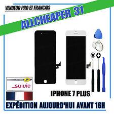 ECRAN LCD IPHONE 7 PLUS Rétina CHASSIS VITRE TACTILE  NOIR BLANC OUTIL AU CHOIX