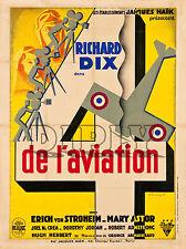 PLAQUE ALU DECO CINEMA 4 DE L AVIATION RICHARD DIX 1932 AVION COCARDE