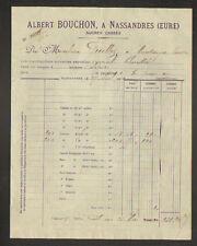 "NASSANDRES (27) RAFFINERIE / SUCRERIE Sucre en morceau ""Albert BOUCHON"" en 1904"