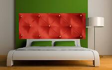 Sticker tête de lit décoration murale Capitonnée rouge réf 3621