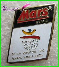 Pin's Barre de Chocolat MARS Brand Jo Barcelona 92  #G1