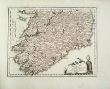 1791 Irland Ireland Munster Leinster Connacht Teilkolorierte Kupfers-Landkarte