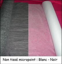 NON TISSE viseline Blanc noir THERMOCOLLANT ENTOILAGE au mètre largeur 150 cm