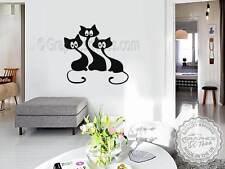 ADESIVI GATTO, Carino Gatto Adesivi da parete, murale casa decorazioni da parete decalcomania