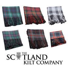 NUOVO kilt scozzese Highland Tartan Plaid polyviscose FLY-Scelta di 15+ Tartan