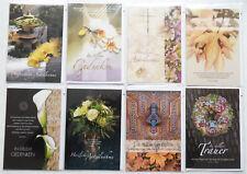 Trauerkarten Nr. 2, Beileidskarten Kondolenzkarten, Todesfall, 17,5 x 11,5 cm