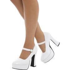 1970s Mujer Zapatos de Plataforma Discoteca Retro Accesorio de Disfraz