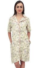 Bimba Light Yellow Floral Print Women's Short Sleeve Sleepshirt With Pocket