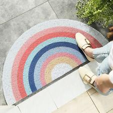Half-Round Carpet Geometric PVC Entrance Floor Mat Home Entry Door Anti-Slip Rug
