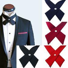 Cross nœud papillon homme cravatte cravate bow pré cravate nouveau haut unisexe réglable nouveau