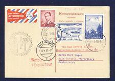 45519) KLM FF Amsterdam - Saigon Vietnam 31.3.59 AK via Brüssel ab Österreich