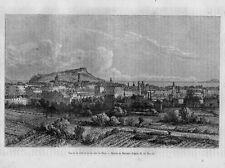 Stampa antica Old Print Veduta panoramica di NIZZA Nice Provenza Francia 1860
