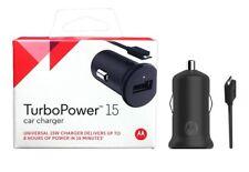 OEM Motorola TurboPower 15/Turbo Power 25 Rapid Charge Micro USB Car Charger NEW