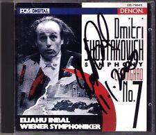 Eliahu INBAL Signiert SHOSTAKOVICH Symphony No.7 DENON Japan CD Schostakowitsch