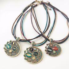 Designer Fashion Jewelry Woman Vintage Choker Necklace - Tiger Eye Stone JN49