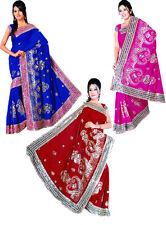 Indian Wedding Embroidery Sari Saree Costume DANSE DU VENTRE ROBE Choose Color