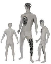Costume Halloween Carnevale Adulto Seconda Pelle Robot zentai smiffys *13925