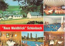 "AK, Herborn Schönbach, ""Haus Waldblick"", 6 Abb., 1985"