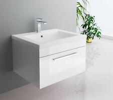 Badmöbel-Set Unterschrank Waschtisch Gäste WC Badezimmermöbel 61cm schwarz weiß
