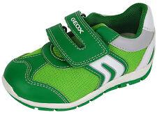 Geox B SHAAX Jungen Halbschuhe Schuhe Sneakers grün Sport Klett Gr. 22- 27 Neu