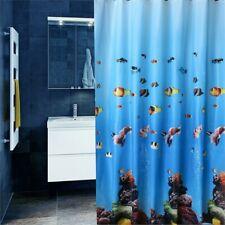 Waterproof Shower Curtains Marine Bath Curtains Blind Panel Rings Bathroom Decor