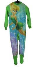 J62 Girls Tinkerbell Onesie Footed Pajamas Pyjamas Size 4 5 6 7  8 10 12 14 16
