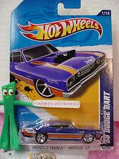 CASE N/Q 2012 i Hot Wheels Mopar '68 DODGE DART 1968 #81☆blue☆Muscle Mania☆