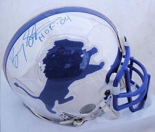 Barry Sanders Signed Detroit Lions CHROME Mini Helmet JSA