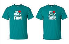 MY HEART ONLY  BEATS FOR HER- HIM  I Love my Girlfriend -Boyfriend -Shirts